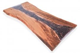 Tischplatte Kastanien-Epoxidharz-III