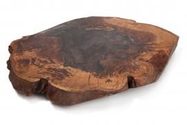 Couchtisch Platte Kastanien-Epoxidharz- Typ-3