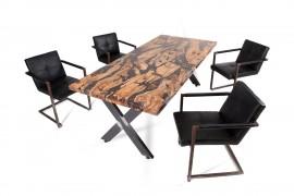 Tisch Samara Olivenholz & Kunstharz