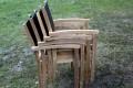 stapelbare Stühle Teak