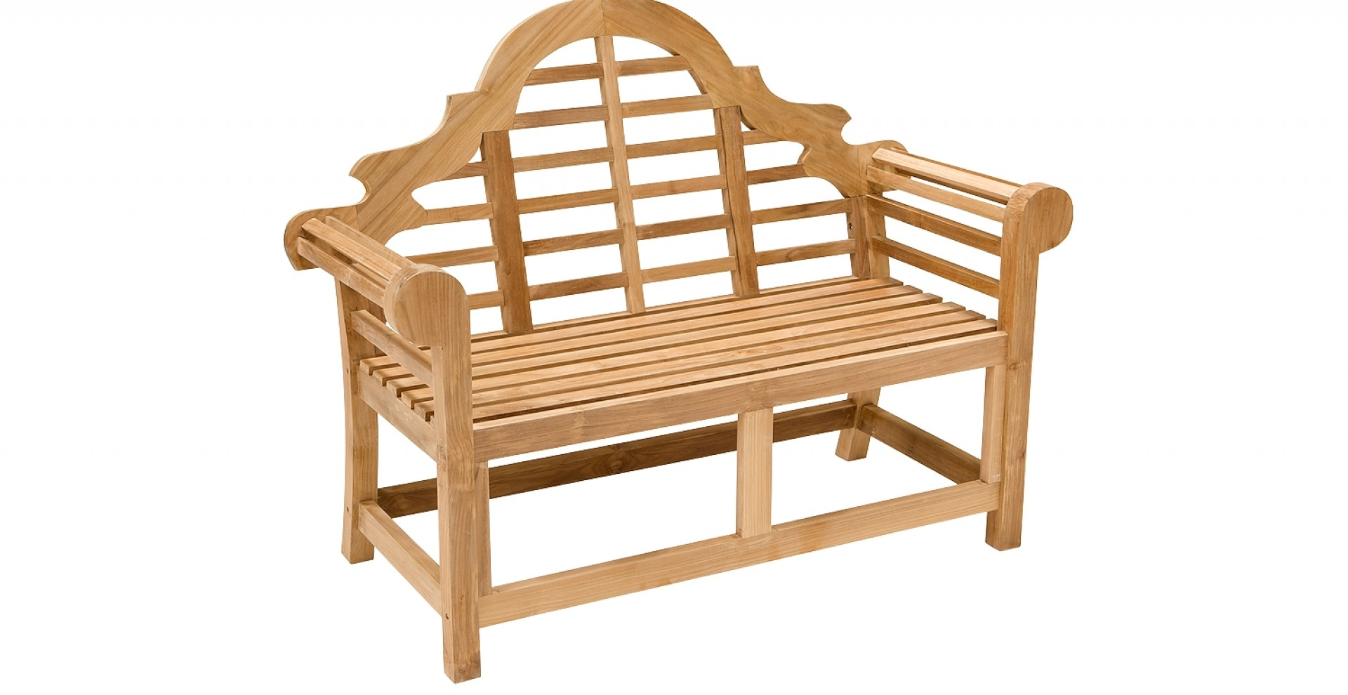 besonders formschone vollholz teak sitzbank aus der britischen gartentradition