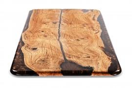 Esstisch mit Epoxidharz Kastanienholz