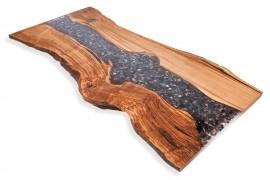 Tischplatte Kastanien-Epoxidharz-IV