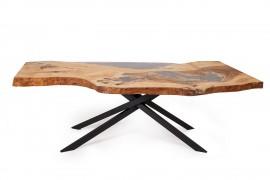 Tisch Samara  Wildesche Block & Kunstharz Tischgestell aus Stahl