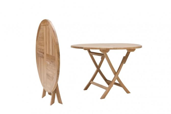 runde Gartentisch