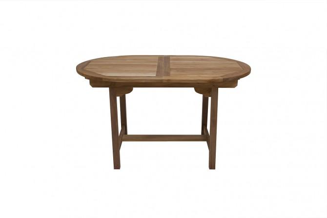 Gartentisch Oval Ausziehbar teak