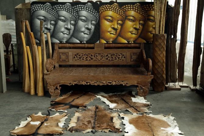 Sitzbank Asiatischer Style