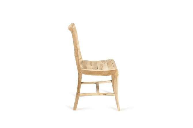 Teak Stuhl ohne Armlehne
