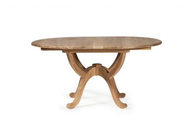 Teakholz Tisch Oval