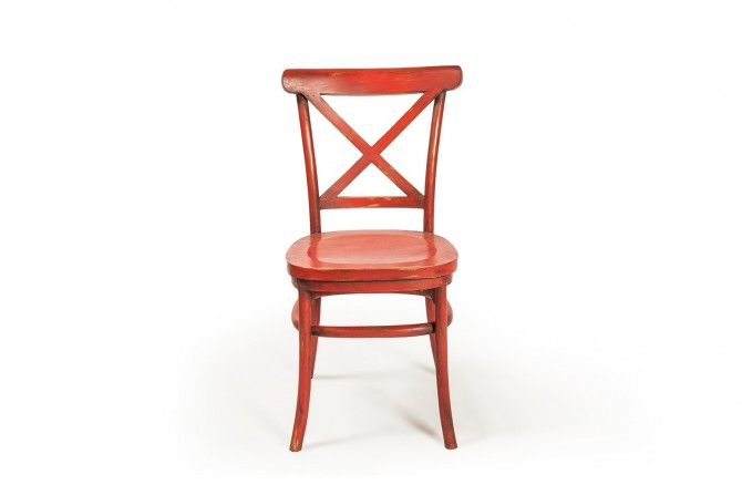 Roter Teakholz Stuhl