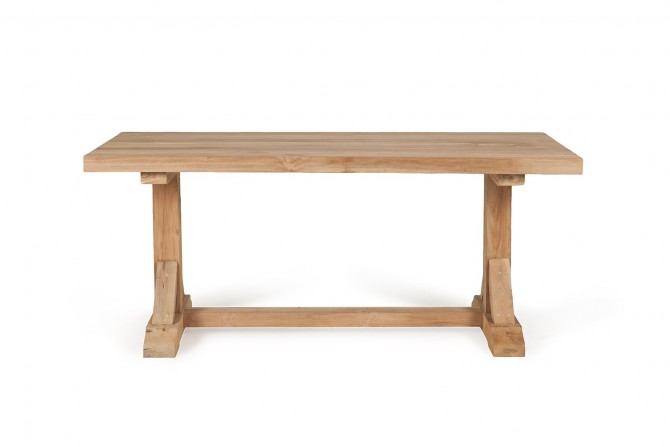 Gartentisch mammuth t-bein, teakmöbel, gartenmöbel, massivholz, robust