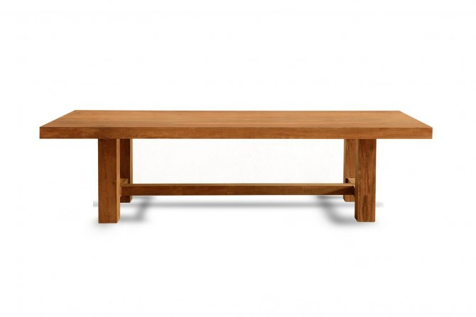 Riesen Tisch, Massivholz Tisch Robust, Tisch Naturholz, Vollholztisch gross, Robuster Tisch für Gastronomie, Gastrotisch, Tisch für Restaurant.