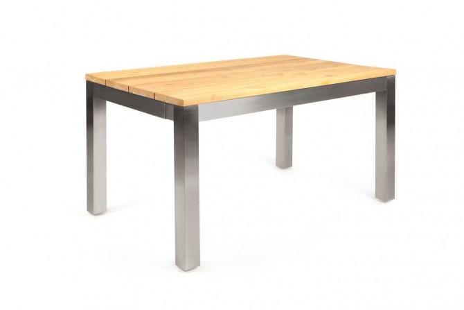 Ausziehbarer Tisch Teak Edelstahl