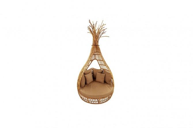 Natur Rattan, Loungeinsel Apache, Rattan, Gartenmöbel, Loungemöbel