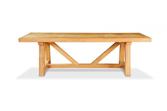 Gartentisch, Gartenmöbel, Teakholz, Tisch Mammut