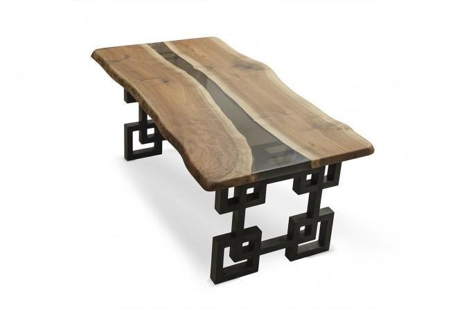 nusstisch, esstisch, nussholztisch, esstisch nussholz, naturholz tisch, nusstisch mit baumkante