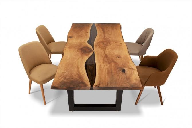 esstisch gruppe, nussholz tisch, nusstisch nach mass, esszimmer möbel,
