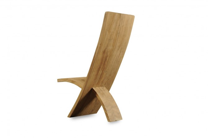 Teakholz Stuhl modern
