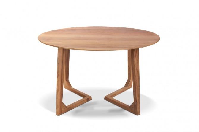 Rund Tisch aus Teakholz