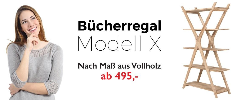 Bücherregal Modell X